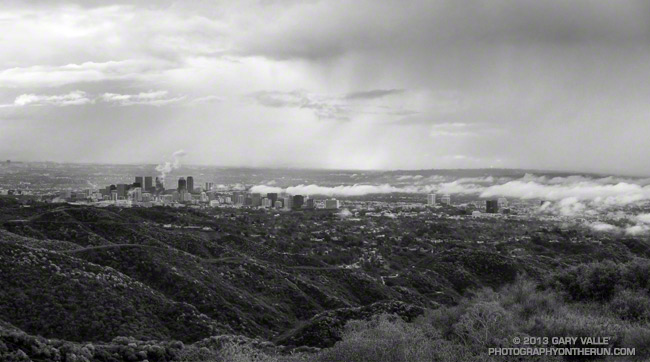 Los Angeles basin clouds and showers
