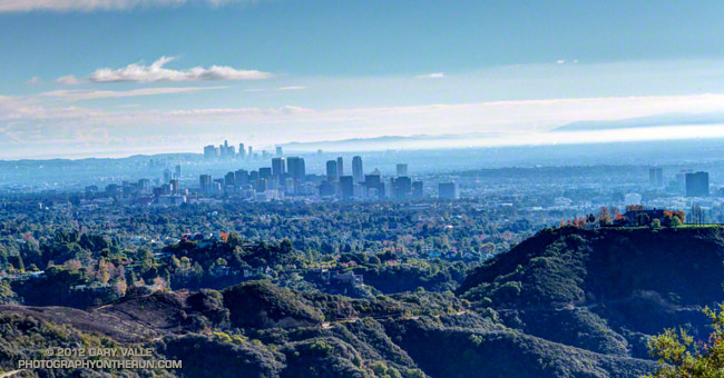Century City and Downtown Los Angeles from the Backbone Trail in the Santa Monica Mountains