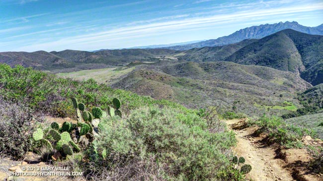 La Jolla Valley and Boney Mountain from the east side of Mugu Peak.