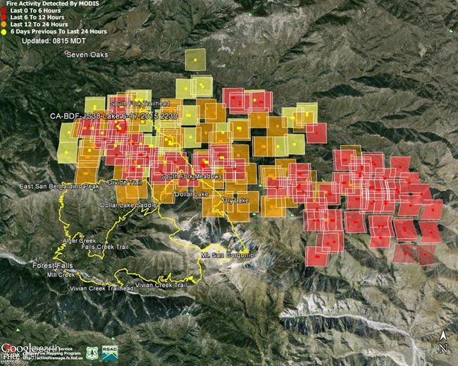 Lake Fire MODIS Fire Detections