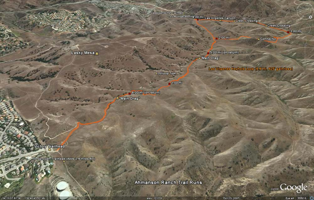 Las Virgenes Keyhole Loop (6.6 mi, 625' gain/loss)