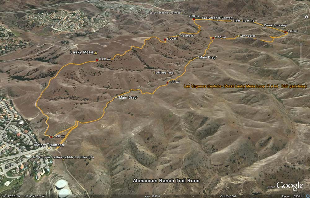 Las Virgenes Keyhole - West Lasky Mesa Loop (7.4 mi,  760' gain/loss)