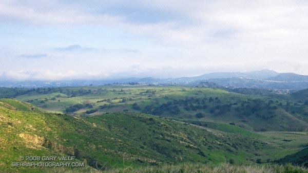Lasky Mesa from a ridge near Bell Canyon.