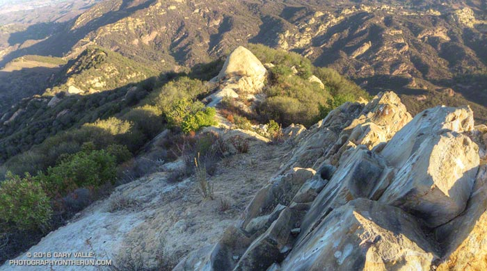 Looking down Topanga Lookout Ridge