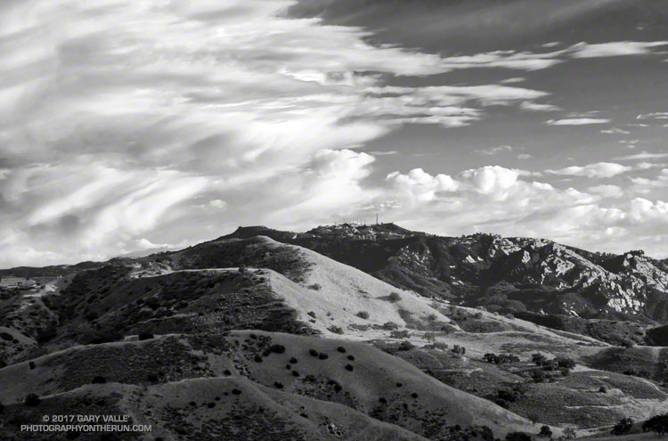 New Millennium, Saddle Peak & Clouds - Photography by Gary Valle'
