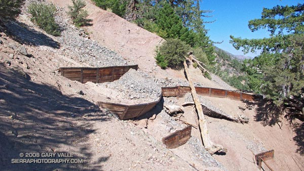 Erosion gulley on the Manzanita Trail.