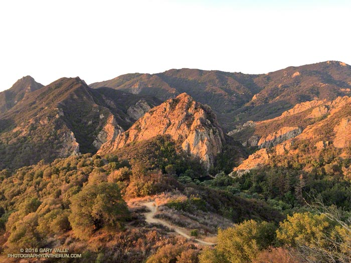 Sunrise on the Lookout Trail, Malibu Creek State Park