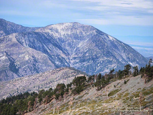 The southeast face of Mt. Baden-Powell (9399').