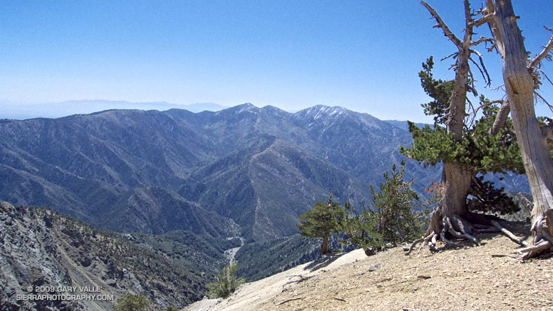 Pine Mountain, Dawson Peak, and Mt. San Antonio (Mt. Baldy) from Mt. Baden-Powell