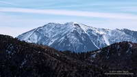 Snow-covered Mt. Baldy from the Mt. Waterman Trail