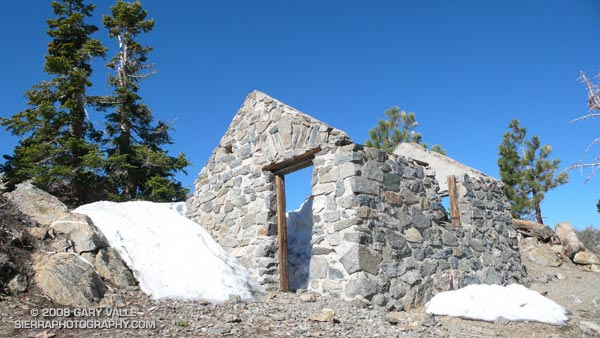 Cabin on the summit of Mt. Islip that was the living quarters for the fire lookout that used to be on the peak.