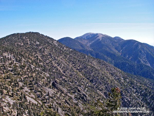 San Gorgonio Mountain from East San Bernardino Peak.