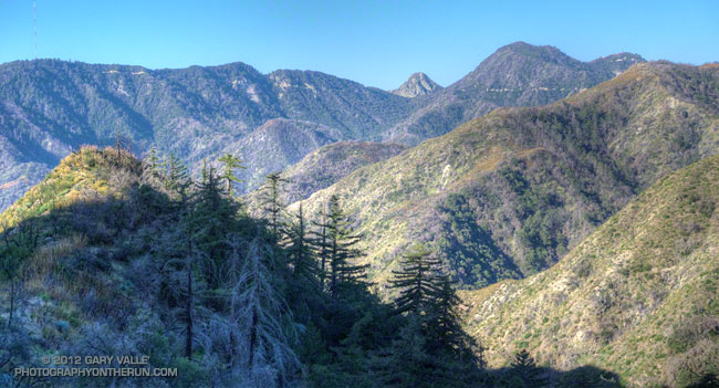 Mt. Wilson area peaks from the Silver Moccasin Trail