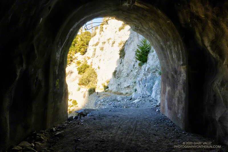 Mueller Tunnel is little past the 2.5 mile mark on ANFTR courses.