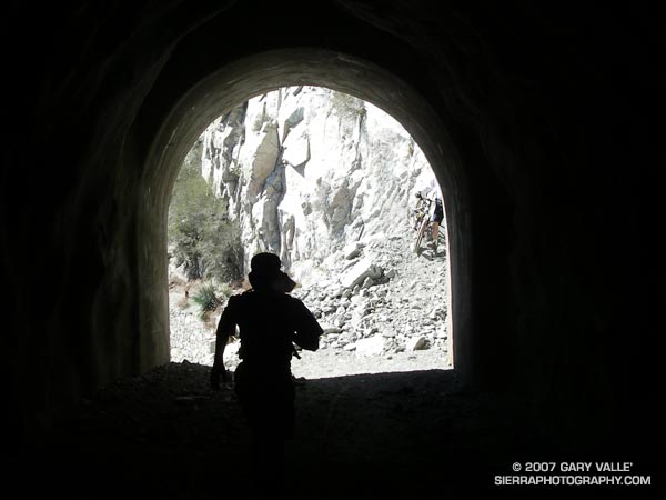 Runner in Mueller Tunnel, near Mt. Wilson, in the San Gabriel Mountains.