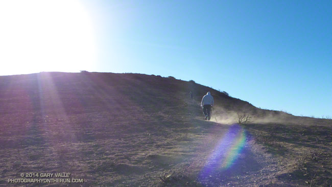 Strong winds on Mugu Peak