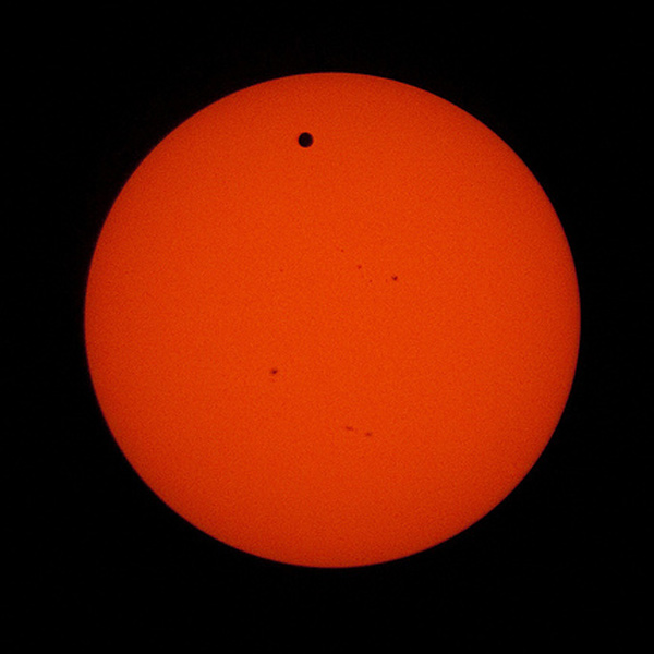 NASA - Johnston Space Center photo of the June 5, 2012  transit of Venus from the International Space Station.