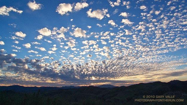 Patterned altocumulus clouds near Los Angeles