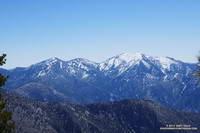 Pine Mountain, Dawson Peak and Mt. Baldy from near Mt. Hawkins.