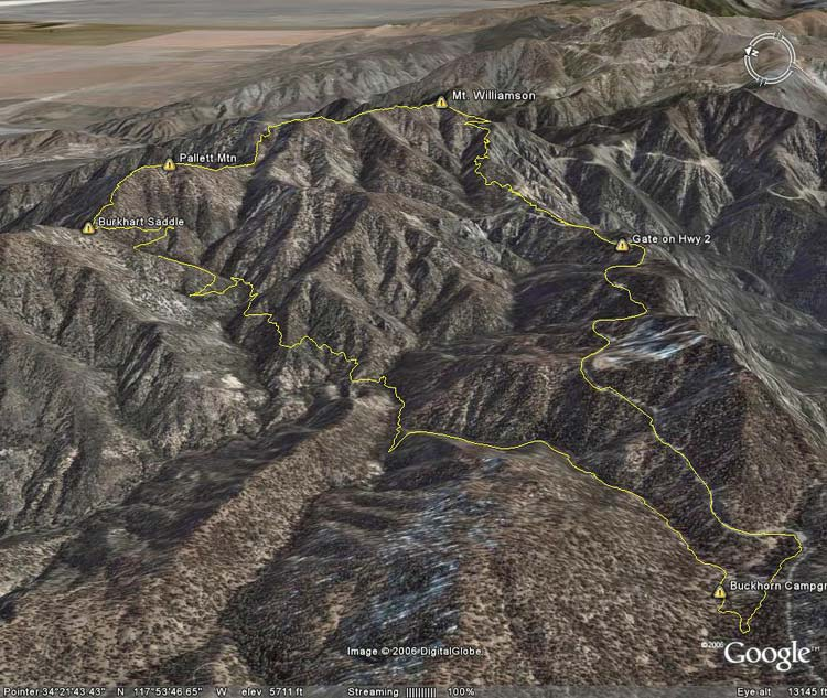 Google Earth image of Pleasant View Ridge Loop.