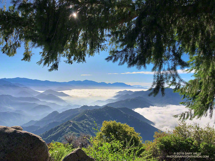 San Gabriel Mountains from the Rim Trail on Mt. Wilson. Photograph by Gary Valle.