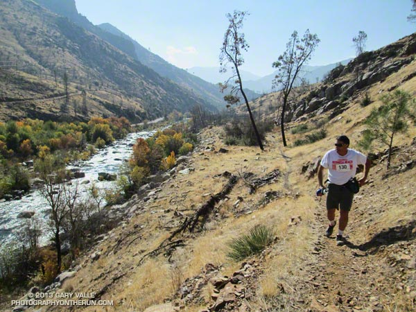 Runner on the Whiskey Flat Trail during the 2013 Burger Run