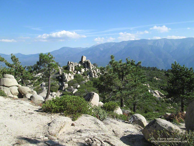 San Gorgonio Mountain (11,499'), the highest point in Southern California, from the Skyline Trail. About mile 32.6/84.6.