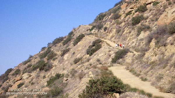 Steep climb up Rocky Peak Road on the Bandit 30K and 14K Courses. Photo is from November 2007.