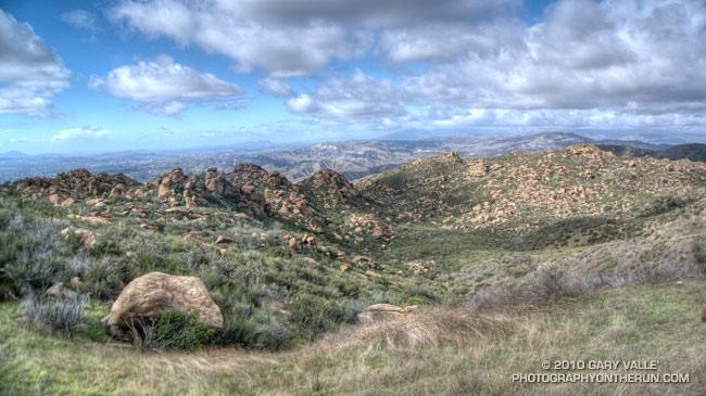 View northwest from Rocky Peak road in Rocky Peak Park.