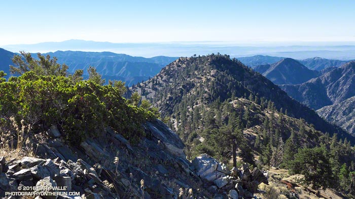 A rocky, steep section on the way to Ross Mountain on Mt. Baden-Powell's south ridge.