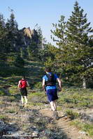 Runners on the Vincent Tumamait Trail below Mt. Pinos.