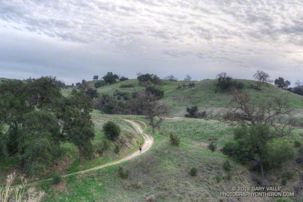 Running up to Lasky Mesa