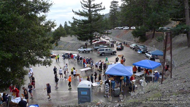 Mt. Baldy Run to the Top Registration Area and Start