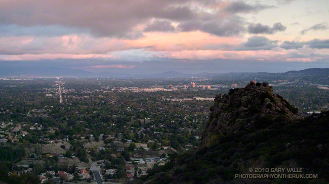 Twilight view of the San Fernando Valley