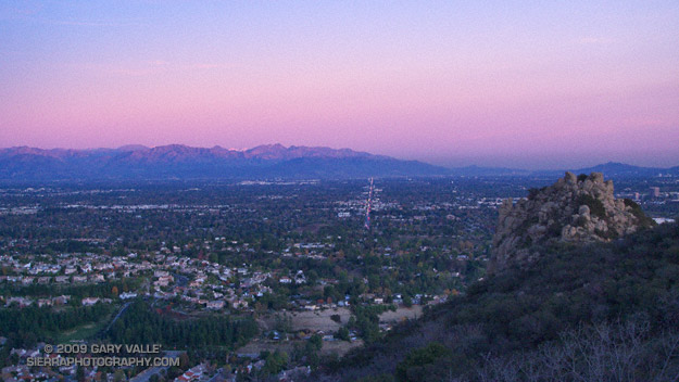 The San Fernando Valley and San Gabriel Mountains from near Castle Peak
