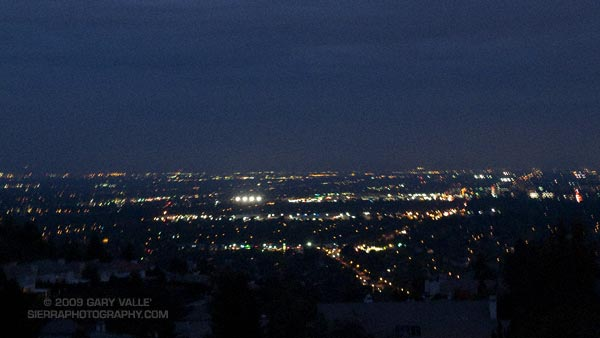 San Fernando Valley lights.