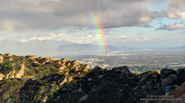 Rainbow over the San Fernando Valley