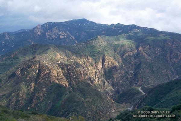 Saddle Peak and Malibu Canyon from the Backbone Trail.