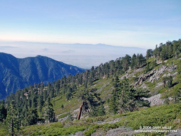 View southwest toward Saddleback (Santiago Peak) from slopes below East San Bernardino Peak.