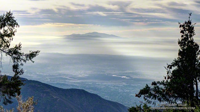 Santiago Peak (Saddleback) from the Rim Trail on Mt. Wilson