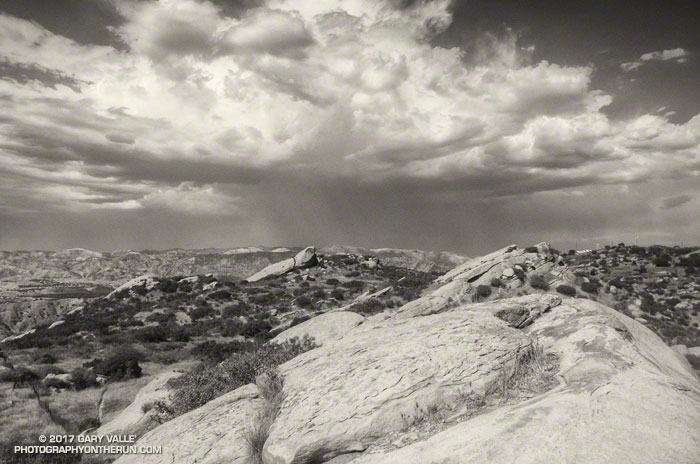 Thunderstorm and Rocks - Sage Ranch Park - August 31, 2017.