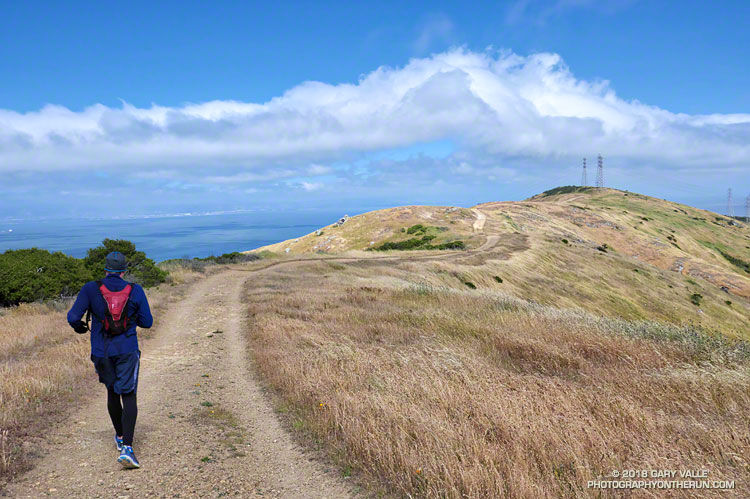Running along the San Bruno Mountain Ridge Trail