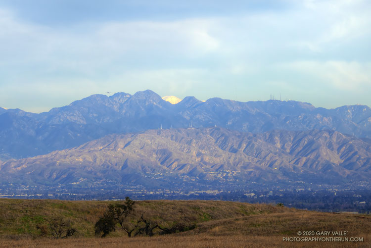 Mt. Baldy and the San Gabriel Mountains from Lasky Mesa.
