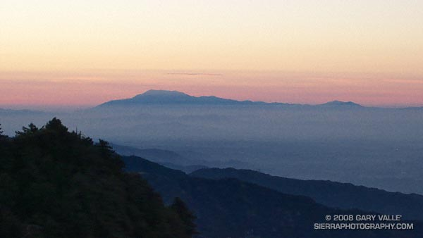 Mt. San Jacinto from the Mt. Wilson. The peak is 84 miles away.
