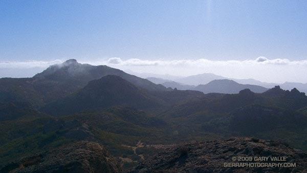 Sandstone Peak, the highest point in the Santa Monica Mountains.