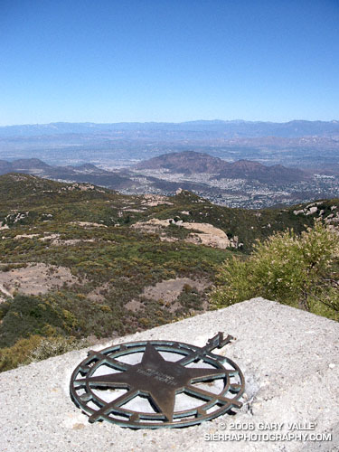 View from the summit of Sandstone Peak.