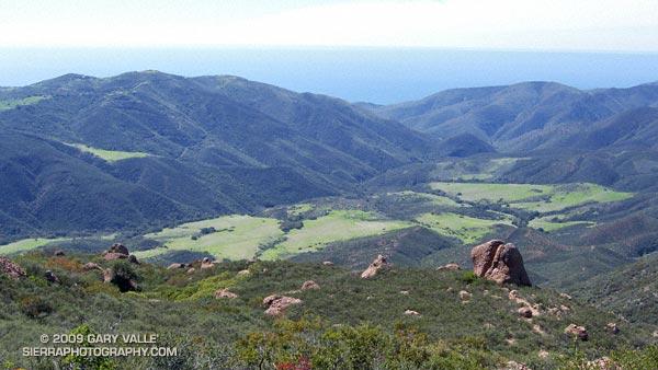 Serrano Valley from the Chamberlain Trail segment of the Backbone Trail.