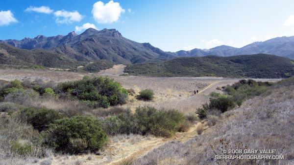 Descending to Serrano Valley in Pt. Mugu State Park