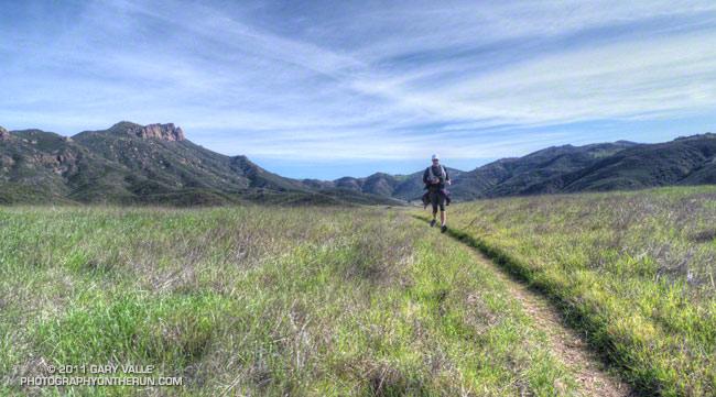 Craig running in Serrano Valley