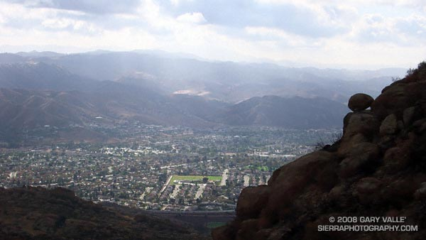A view of the eastern end of Simi Valley from Rocky Peak.